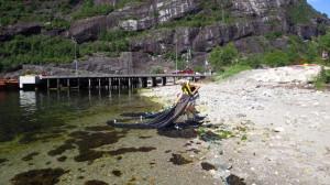 Trekking av strandnot i Lysebotnen