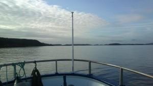 """Helt greit """"kontor"""", det her - flat sjø og blå himmel!"""