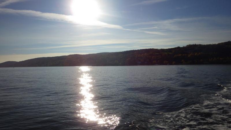 Nok en hard dag på sjøen (solen forsvant riktignok etter første dag, men dog)