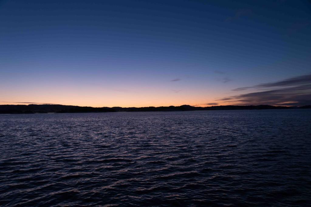 Tidlig morgen på havet. Foto: AHS Tandberg