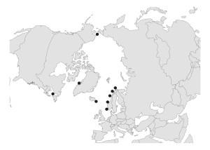 Verifiserte funn av Metopa boecki. Ill: Tandberg, 2010
