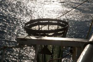 ring-nett som kan samle dyreplankton i vannsøylen. Foto: AHS Tandberg