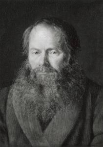 Portraet af zoologen, professor H.N. Kroeyer, 1868. Olje på Kanvas, P.S. Kroeyer (adoptivsønnen til H. Krøyer). Bildet henger i Statens museum for Kunst, København