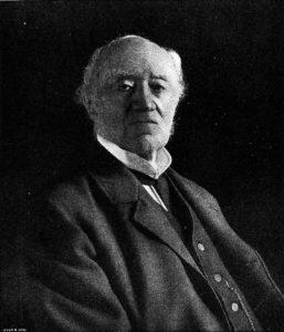 """Vilhelm Lilljeborg (1816-1908). Foto: """"Hvar 8 dags fotograf i Sthlm"""", 8 oktober 1905, førstesiden."""