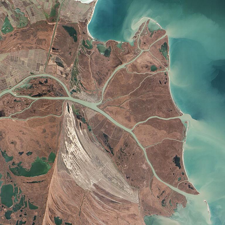Elvedeltaet til Donau - fotografert av NASA [Public domain], via Wikimedia Commons