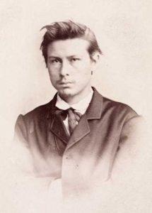 En ung G.O. Sars. Foto: ukent. Bilde fra Oslo Museums byhistoriske samlinger. (bilde no  OB.F03334D)