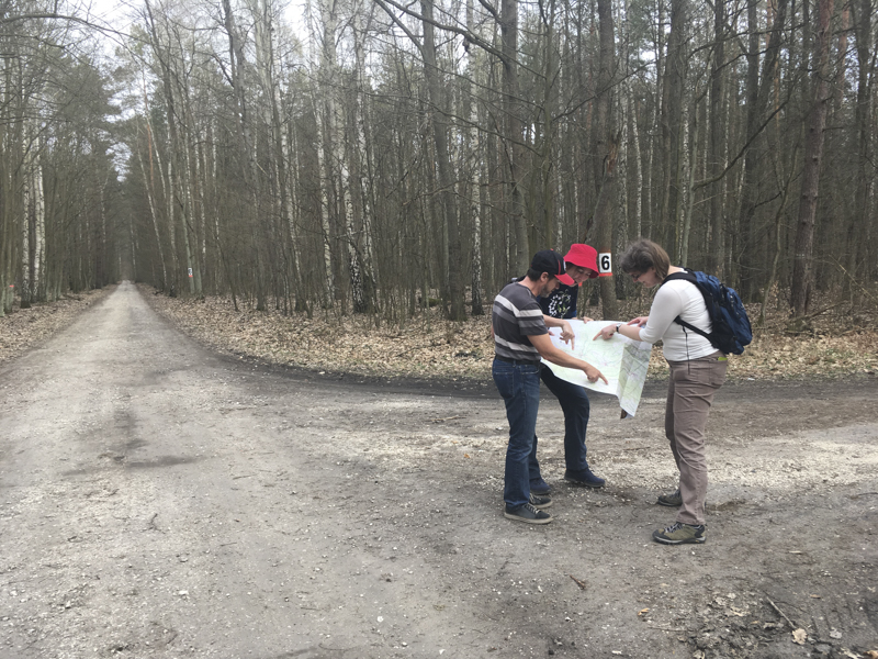 Amfipodologene finner veien i skogen? Ikke vårt vanlige habitat... Foto: AH Tandberg