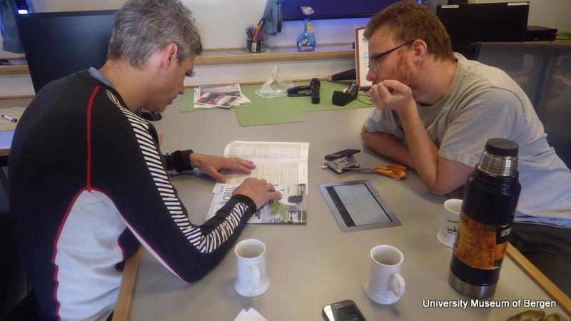 """""""Ønskelisten"""" (artsliste i fra miljøundersøkelser på lokaliteten) granskes, og planer legges"""