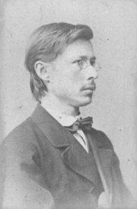 En ung G. O. Sars (fotografert i 1871 av F. Klem; eier: Billedsamlingen, Nasjonalbiblioteket)
