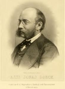 Axel Boeck. Bilde fra Boeck 1872